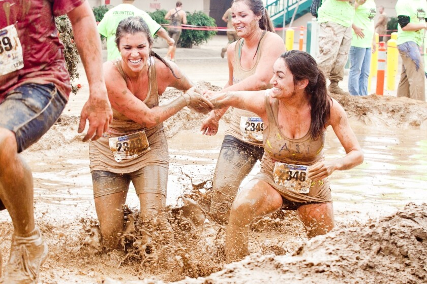 Del Mar Mud Run.