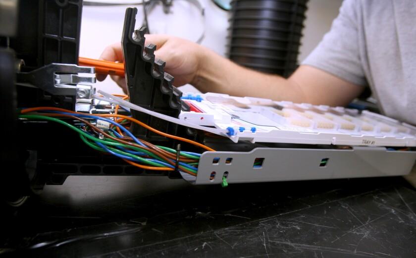 Fiber optics cables in Burbank