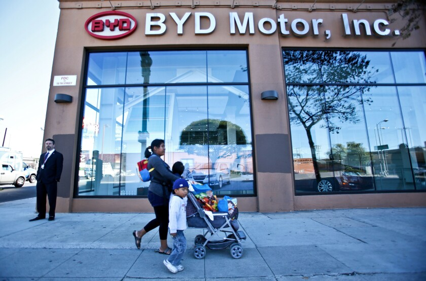 BYD's office in downtown Los Angeles.