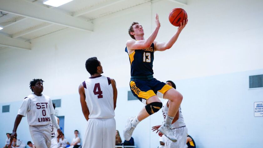 Judah Luberto (13) is a leader at The Cambridge School with a 24.5-point average and 4.58 GPA.