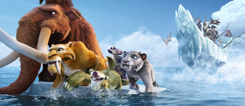 "Outrunning extinction: The animated characters of the ""Ice Age"" films travel well around the world."