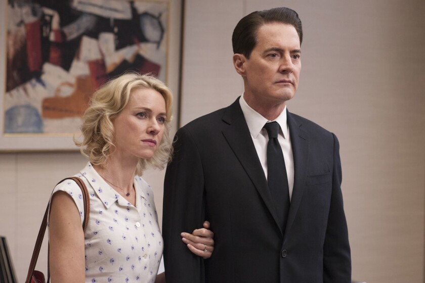 Naomi Watts and Kyle MacLachlan in a still from Twin Peaks. Both actors will be at Comic-Con 2017. (Suzanne Tenner/SHOWTIME)