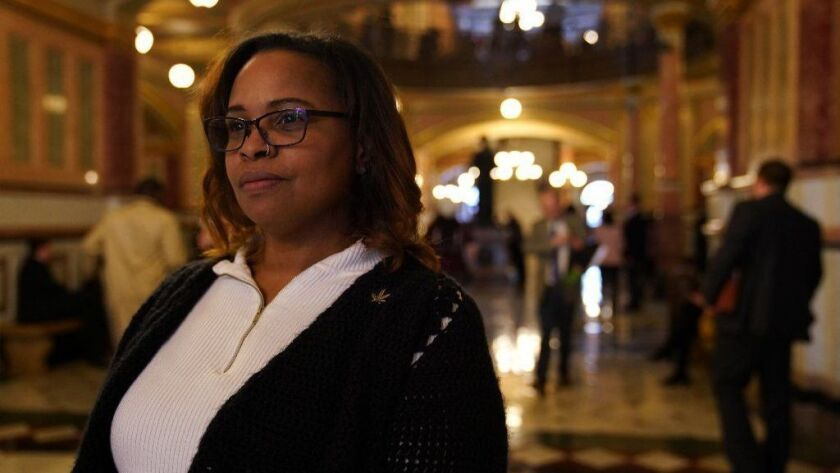 Edie Moore, executive director of Chicago NORML, which works toward marijuana law reform, says there are high barriers for minorities trying to break into Illinois' cannabis industry.