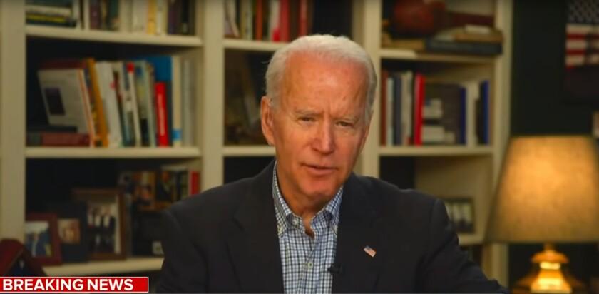 Former Vice President Joe Biden has run his presidential campaign from home in Wilmington, Del.