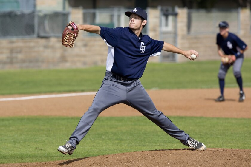 Granite Hills left-hander Trenton Brooks, shown pitching earlier in the season, retired the final 11 batters he faced Thursday in the Eagles' win over La Costa Canyon.