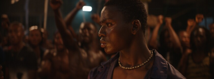 "Koné Bakary in the movie ""Night of the Kings."""