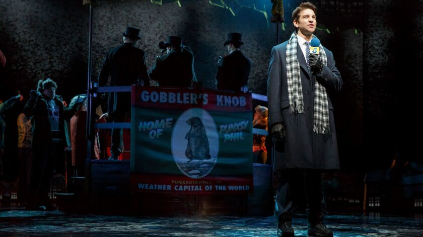 """Andy Karl, starring as weatherman Phil Connors, injured himself just days before """"Groundhog Day"""" was"""