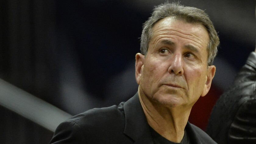 "Atlanta Hawks co-owner Bruce Levenson looks on during a game against the Washington Wizards in December. Levenson is selling his stake in the team amid an NBA investigation into an ""inappropriate and offensive"" email he wrote."