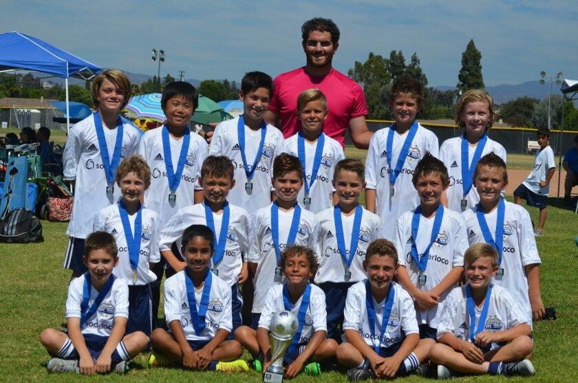 The DMCV Sharks Boys U11 (mixed team), coached by Jordan Shadeed, won the Anaheim Surf Invitational on July 12.