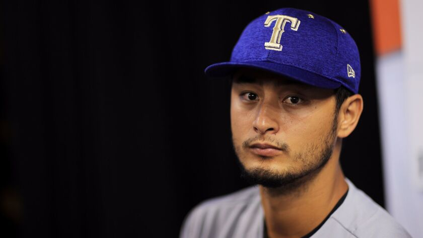Yu Darvish will make his debut with the Los Angeles Dodgers on Friday in New York.