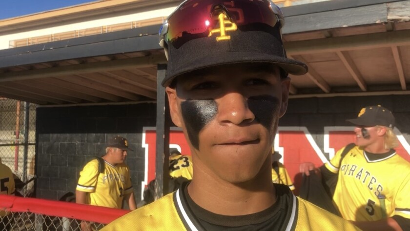 Outfielder Dom Porter is one of eight returning starters for San Pedro's baseball team.