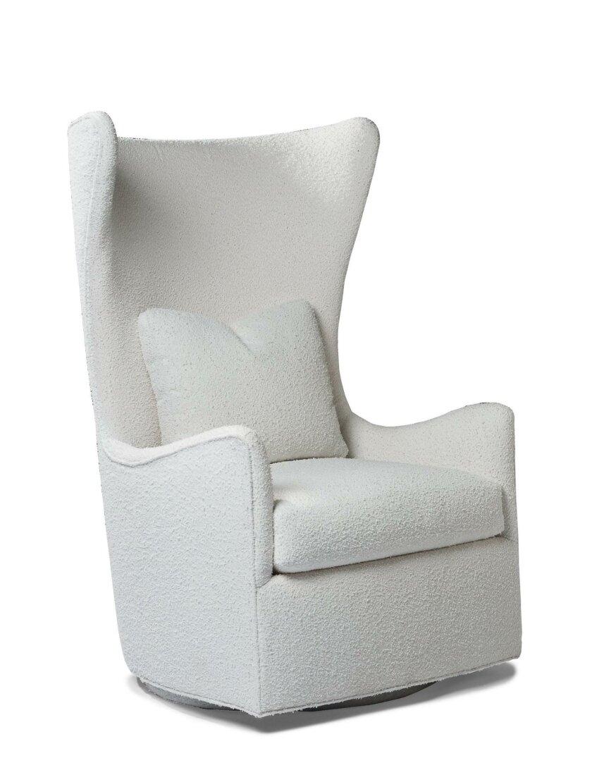 """Milo Baughman's """"Feelin' Groovy Swivel Chair,"""" designed in 1967."""