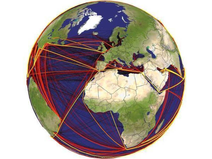 Study of shipping routes maps delivery of invasive organisms ... on manufacturing map, tax map, proxy map, tracking map, old world pirate map, albion map, inventory map, refugee map, ancient world map, documentation map, training map, safety map, development map, planning map, strategy map, research map, shipping map, service map, shipment map,