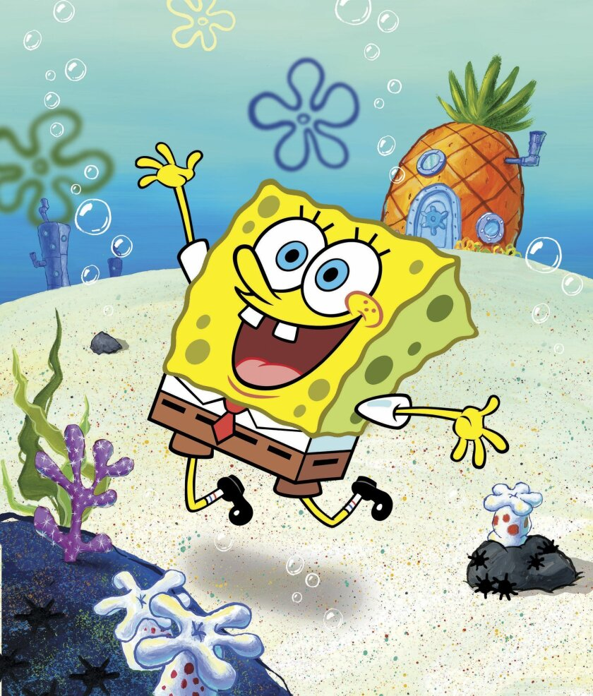 "FILE - This undated file image released by Nickelodeon shows a scene from the animated show ""SpongeBob SquarePants."""