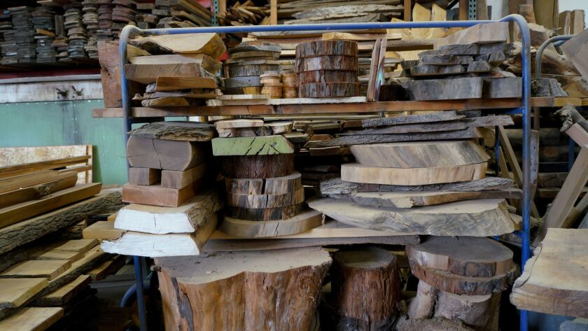 Urban Timber in Chula Vista models themselves for collecting fallen trees and recycling the lumber i