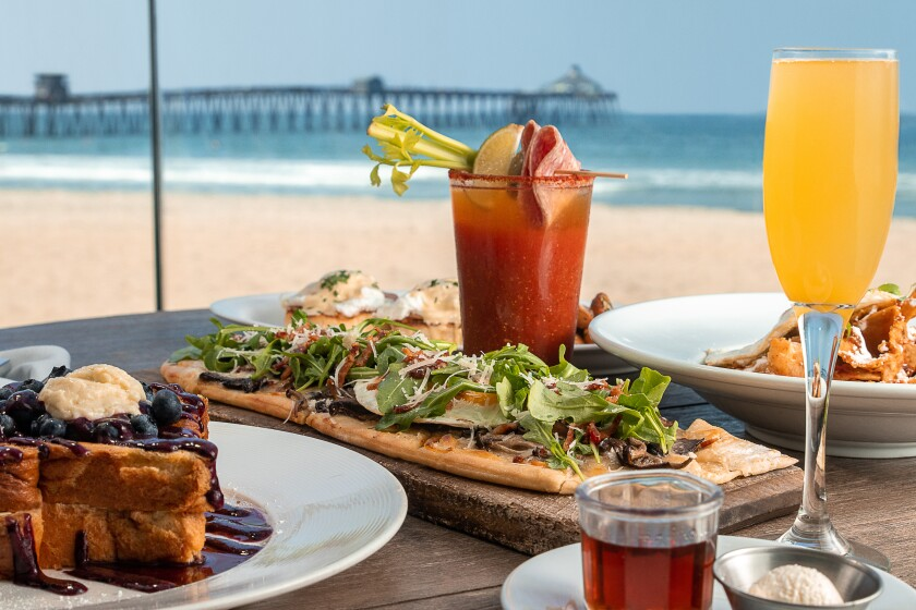 Sea 180 Coastal Tavern offers a variety of brunch selections amid scenic ocean views.