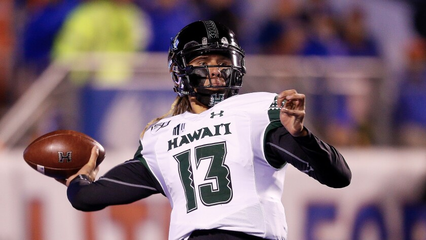 Hawaii quarterback Cole McDonald leads the Mountain West in passing this season with 3,007 yards and 25 touchdowns.