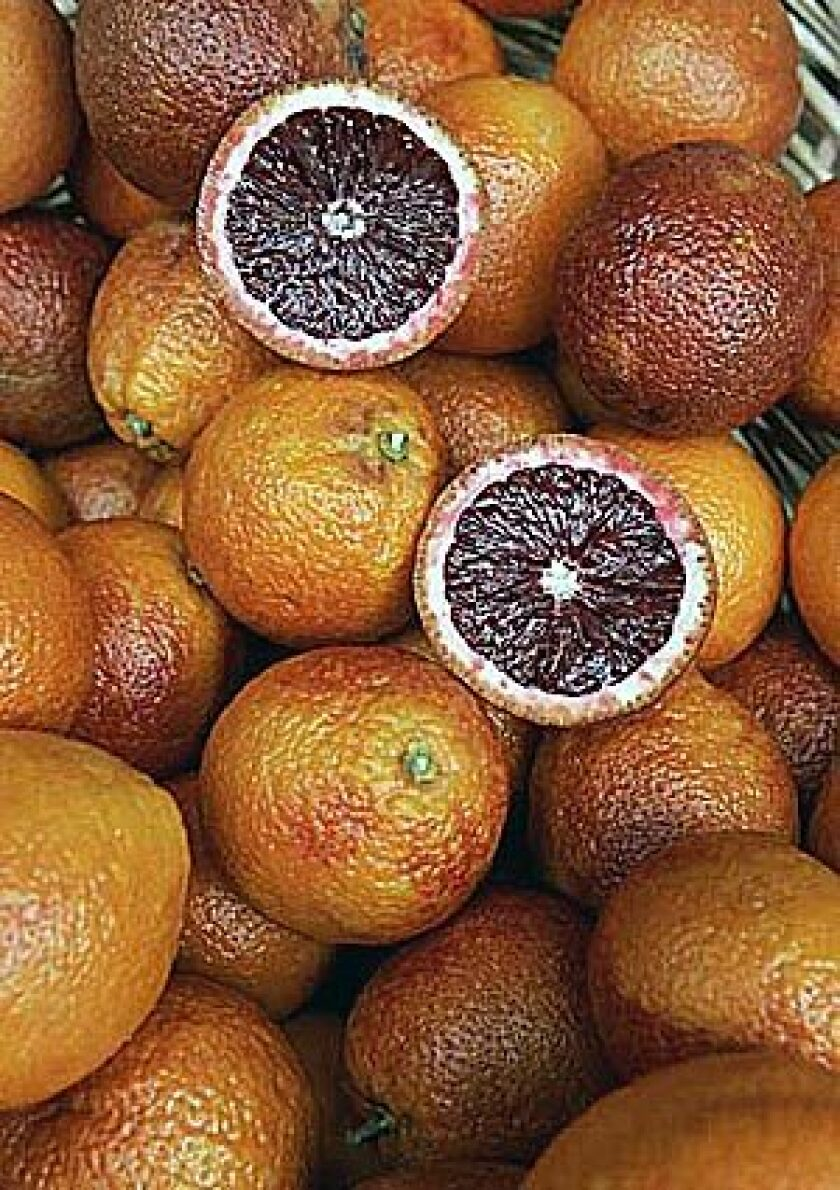 Expect to see blood oranges showing up on restaurant menus, paired with fennel for a popular salad, or used in sorbets or as garnish for desserts.