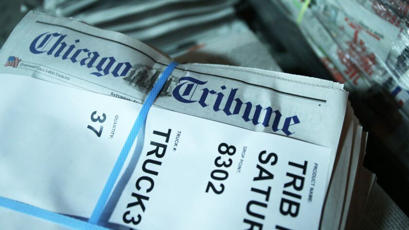 Chicago Tribune owner Tronc in 'early stage' discussions about sale to McClatchy chain