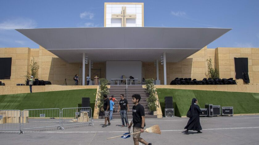 CHILE-POPE-VISIT-PREPARATIONS
