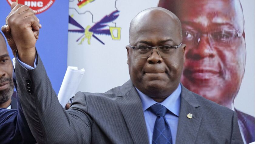 Felix Tshisekedi of Congo's Union for Democracy and Social Progress opposition party, at a press conference in Nairobi, Kenya, on Nov. 23, 2018.