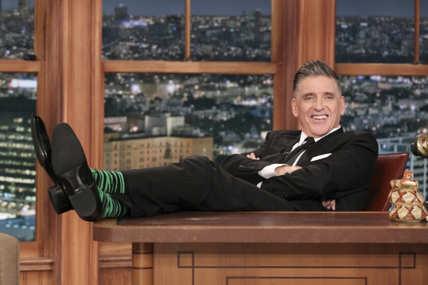 "Craig Ferguson films his last ""Late Late"" show."