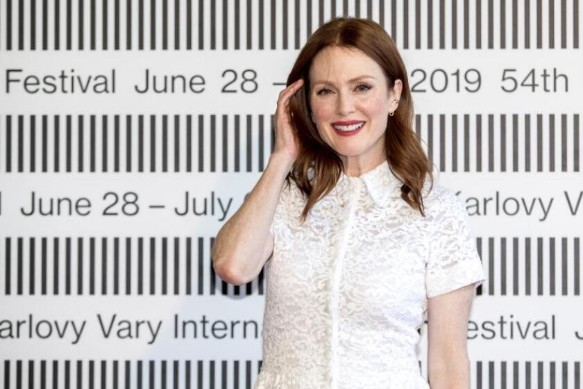 US actress Julianne Moore poses for photographers during a photocall for the movie 'After the wedding' at the 54th Karlovy Vary International Film Festival, in Karlovy Vary, Czech Republic. EFE/EPA/Martin Divisek/File