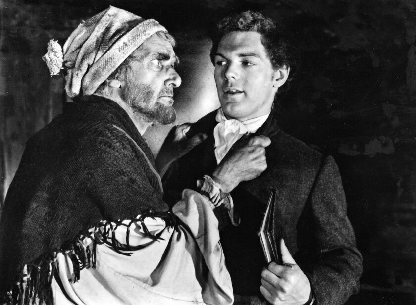 "James MacArthur, right, starred in the 1960 version of Robert Louis Stevenson's ""Kidnapped,"" with John Laurie."