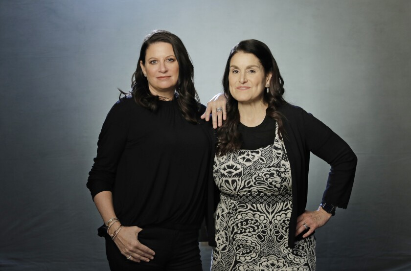 "Female producers of Oscar best picture nominees include Emma Tillinger Koskoff, left, producer of ""The Irishman"" and ""Joker,"" and Shannon McIntosh, producer of ""Once Upon a Time... in Hollywood."""