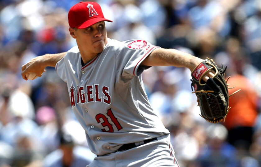 Right-hander Billy Buckner made his Angels debut on Saturday afternoon against the Royals in Kansas City.