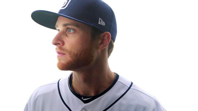 San Diego Padres infielder Cory Spangenberg.