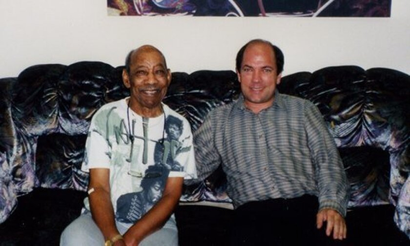 Al Hendrix: Author and biographer Steve Roby with Al Hendrix, father of the late rock guitarist, Jimi Hendrix.