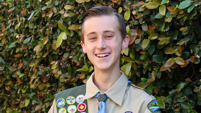 Bennett Anderson's Eagle Scout ceremony will be held April 30. It's a rare achievement for a 15-year