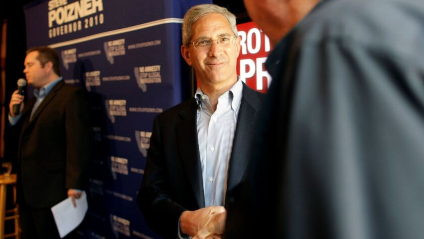 Steve Poizner, seen during his unsuccessful campaign for governor in 2010, will run for California insurance commissioner, the job he held from 2006 to 2010.