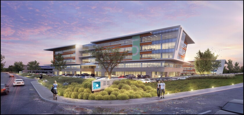 A rendering of the proposed Aperture campus in Pacific Highlands Ranch.