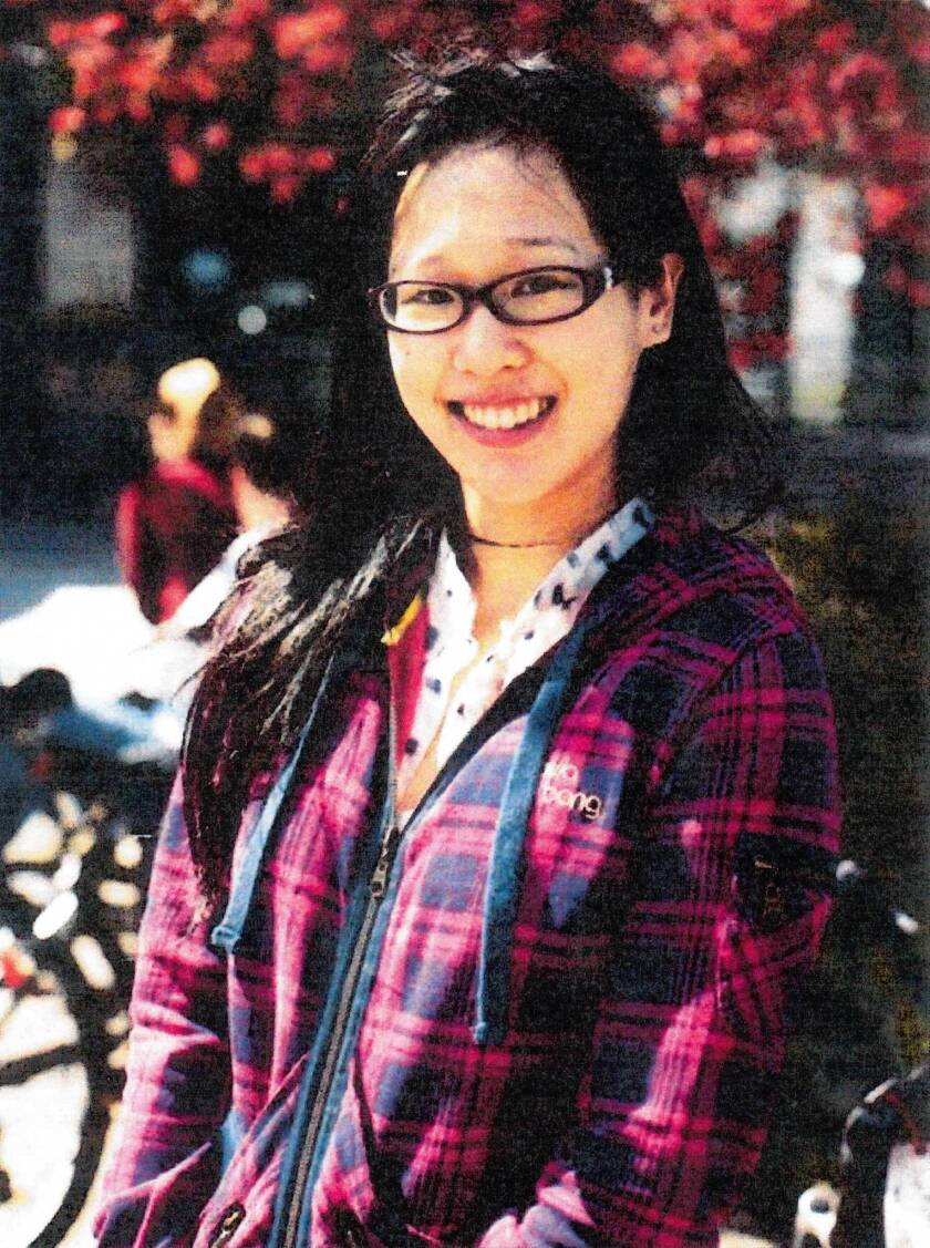 A file photo released by the Los Angeles Police Department shows Elisa Lam of Vancouver, Canada, whose body was found in a rooftop water tank of the Cecil Hotel.
