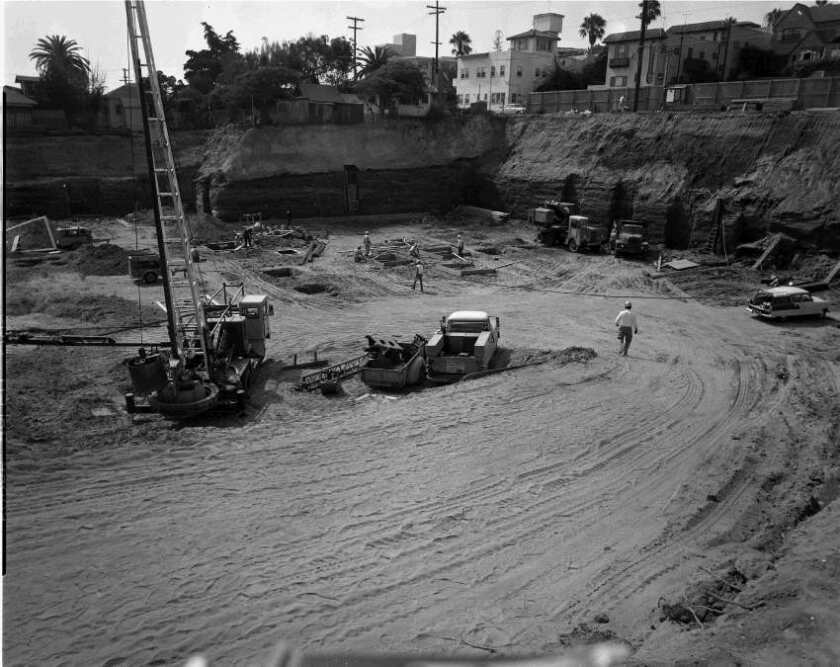 La Jollans had no clue how large 939 Coast Blvd. would be until they saw the excavation site in 1964.