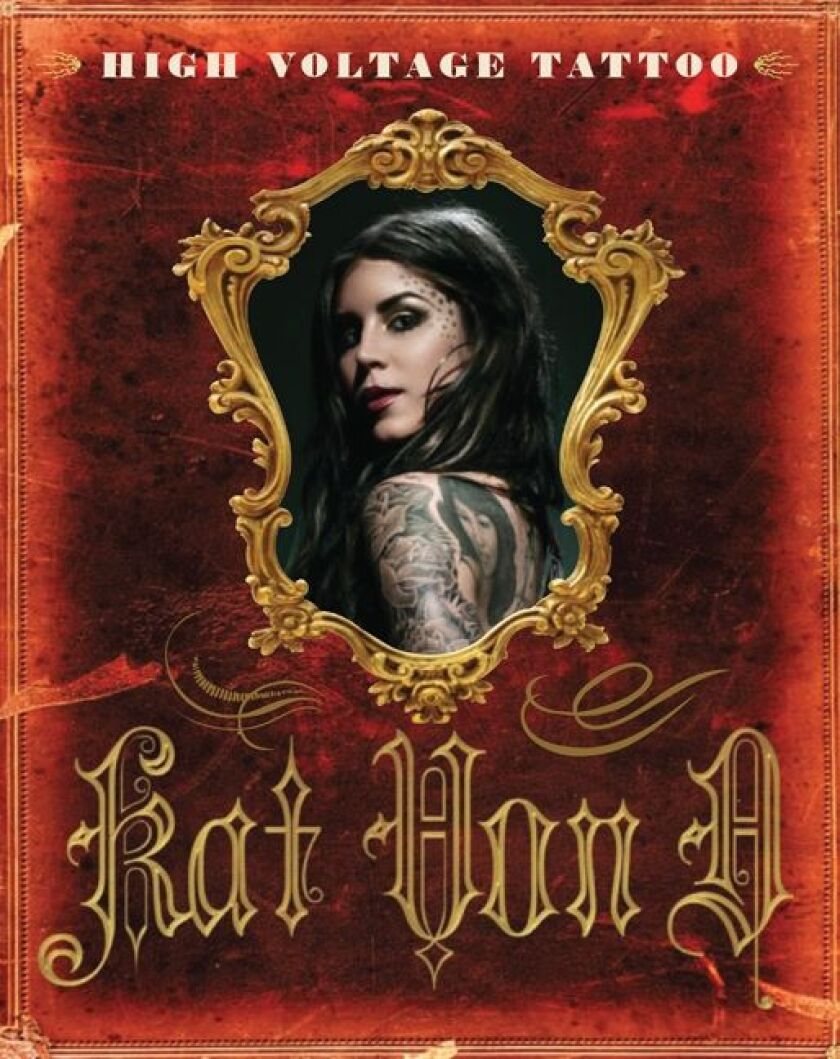 """Book cover of Kat Von D's """"High Voltage Tattoo."""""""