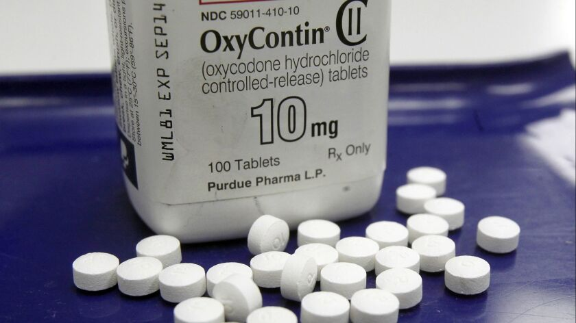 OxyContin accounted for more than 82% of Purdue Pharma's sales last year. In February, Purdue announced that it would stop promoting its opioid drugs to physicians.