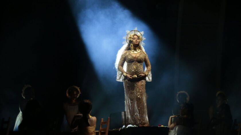 Beyonce performs at the 59th Annual Grammy Awards at Staples Center on Feb. 12, 2017.