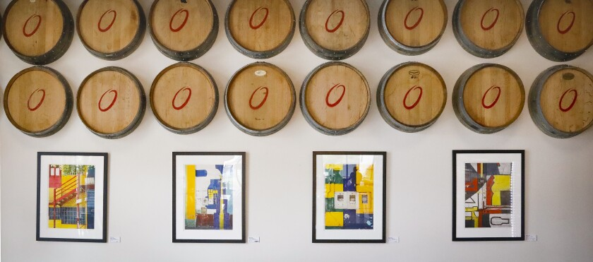 Helga Orfila helped design and curate the art at the Orfila tasting room in Oceanside.