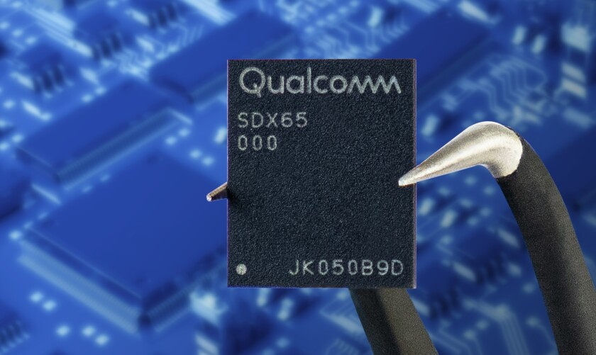 Qualcomm's new X65 baseband processor can deliver gigabit speeds to mobile devices.
