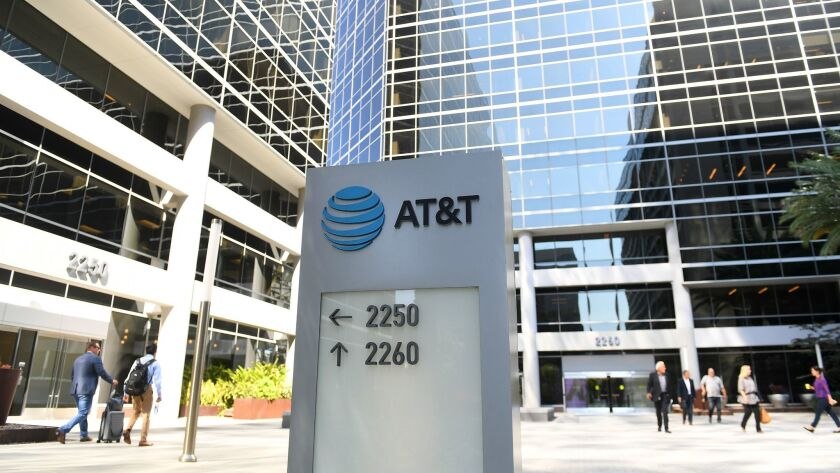 AT&T offices are seen in El Segundo.