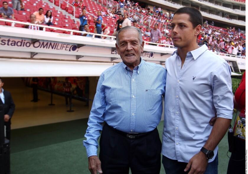Tomás Balcázar y Javier Chicharito Hernández