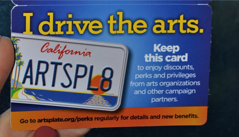 The California Arts Council has introduced a new voucher program that allows people to give arts license plates as gifts. The specialty plates are significant source of funding for the council.