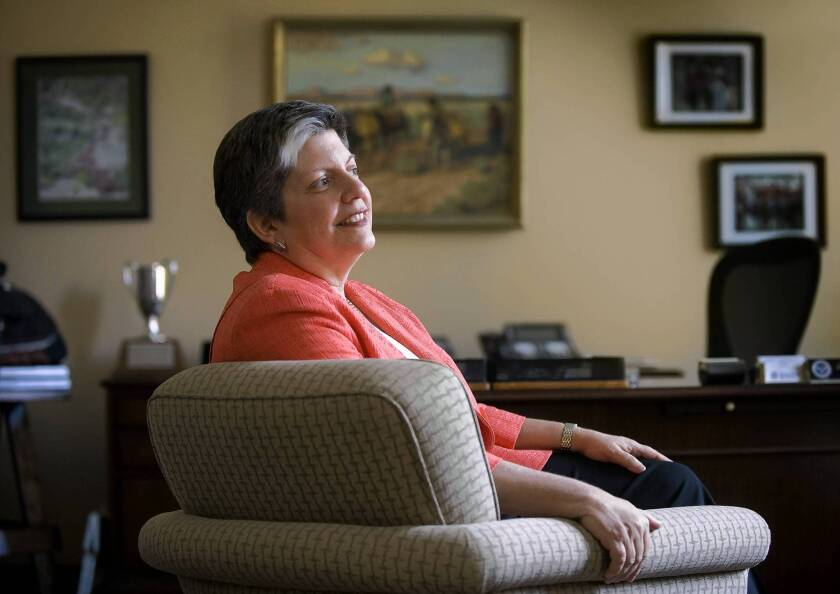 Department of Homeland Security Secretary Janet Napolitano is stepping down to become president of the University of California system in September.