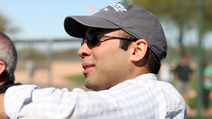Former Oakland Athletics executive Farhan Zaidi is the Dodgers' new general manager.