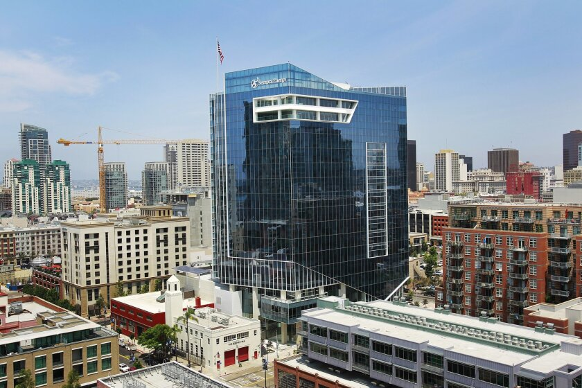 The headquarters of Sempra Energy in downtown San Diego, shown here in a 2015 photo.