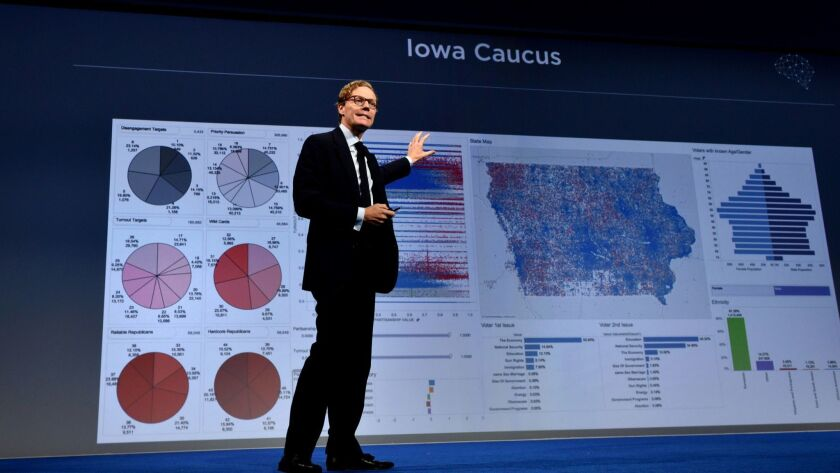 CEO of Cambridge Analytica Alexander Nix speaks at the 2016 Concordia Summit in New York City.