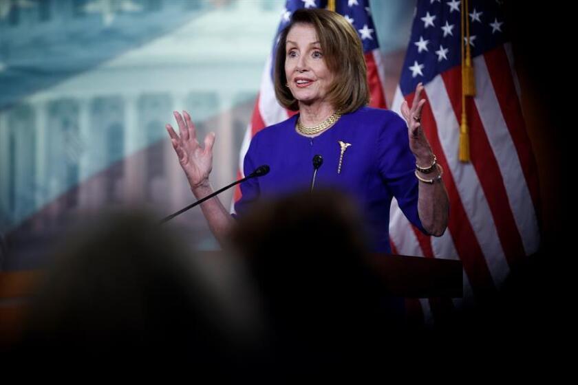 La presidenta de la Cámara de Representantes de EE.UU., Nancy Pelosi. EFE/Archivo